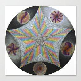 Galactic Pentagram (ANALOG zine) Canvas Print