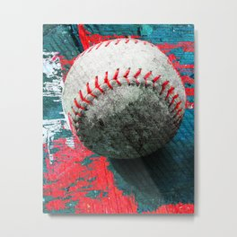 Baseball art 6 Metal Print