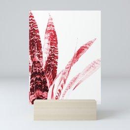 Red Snake Plant - Sansevieria Leaves Mini Art Print