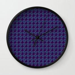 Blue Pentagram Wall Clock