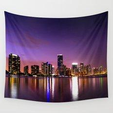 Miami Skyline Wall Tapestry
