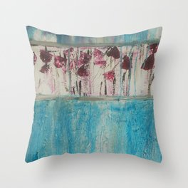 Blue Absract Throw Pillow