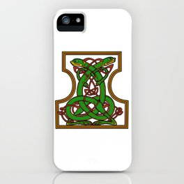 Celtic Medieval Entwined Animals iPhone Case