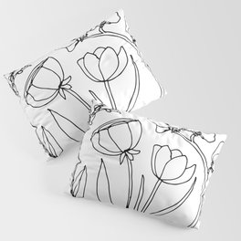 Floral Scribble Pillow Sham