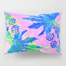 Tropical Adventure - Neon Blue, Pink and Green #tropical #homedecor Pillow Sham