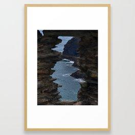View from a Castle - Tintagel Castle - Tintagel, England Framed Art Print