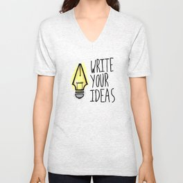 Write Your Ideas Unisex V-Neck