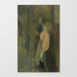 """Théophile Steinlen """"The kiss"""" (1) Canvas Print"""