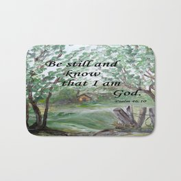 Be Still and Know Bath Mat