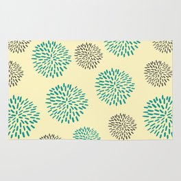 Pastel Yellow Burst Rug