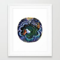 tigers Framed Art Prints featuring TIGERS by Louise des Jam