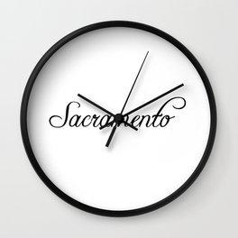 Sacramento Wall Clock