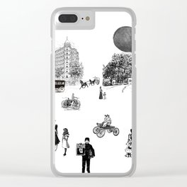 city view from window in 1898 vintage Victorian Clear iPhone Case