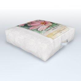 Cosmos Seed Packet Outdoor Floor Cushion