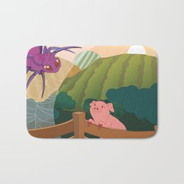 The spider and the pig Bath Mat