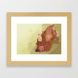 The Shadow Puppeteer   Framed Art Print