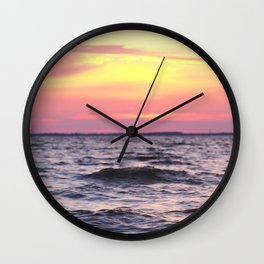 Bay Sunset Wall Clock