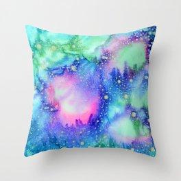 """Cosmic world"" Throw Pillow"
