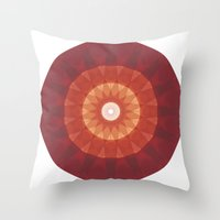 kaleidoscope Throw Pillows featuring kaleidoscope by UiNi