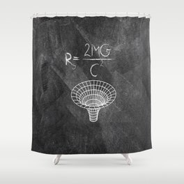 Black Hole Maxwell's Equations Shower Curtain