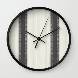 Paris Floral Ribbon Wall Clock