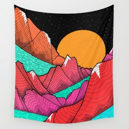The islands and the sea Wall Tapestry