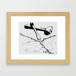 Chipping away Framed Art Print