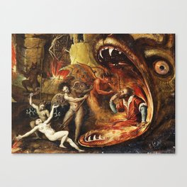 Demons and creatures Canvas Print