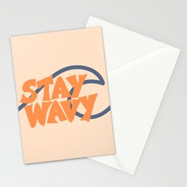 Stay Wavy Surf Type Stationery Cards