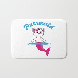 Purrmaid Cat Mermaid Cute Kitten Undersea Gift Bath Mat