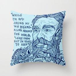 """The Girl"" Throw Pillow"