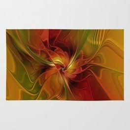 Warmth, Abstract Fractal Art Rug