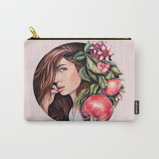 Pomegranate flowers Carry-All Pouch