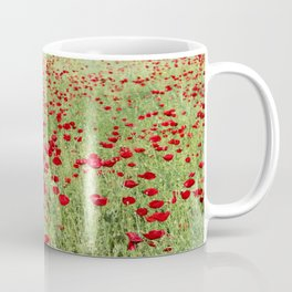A Pasture Of Red Poppies and Remembrance Coffee Mug