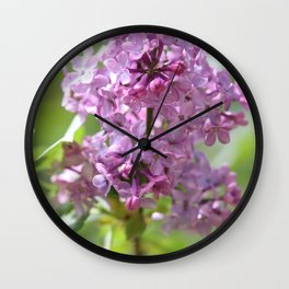 Lilac Lady Wall Clock