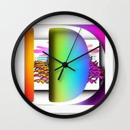 MONOGRAM INITIAL D Wall Clock