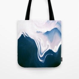 Distorted Mountains II Tote Bag