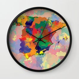 Spain, Outline, Map Wall Clock