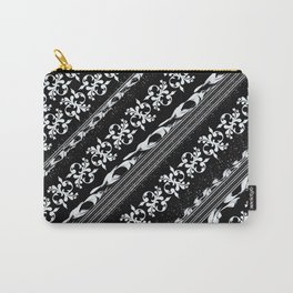 Vintage ornament on black Carry-All Pouch