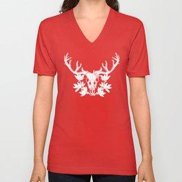 LoveGo WhiteOut Deer Unisex V-Neck