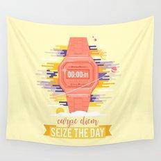 Carpe Diem - Seize the Day [orange] Wall Tapestry
