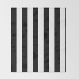 Black & White Vertical Stripes - Mix & Match with Simplicity of Life Throw Blanket