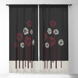 december roses Blackout Curtain