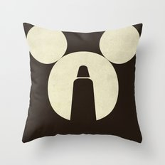 The Dark Side of the Mouse Throw Pillow
