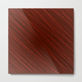 Vintage ornament of their red threads and repetitive intersecting fibers. Metal Print