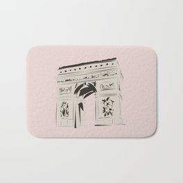 Paris Arc de Triomphe de l'Étoile Travel Poster Bath Mat