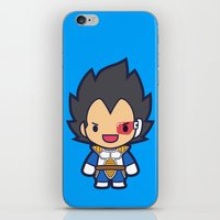 vegeta iPhone & iPod Skins featuring FunSized Vegeta by Papyroo