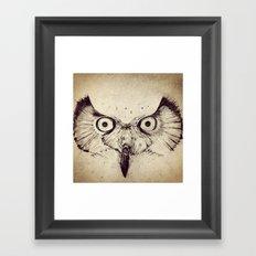 Deconstructed Owl Face Framed Art Print