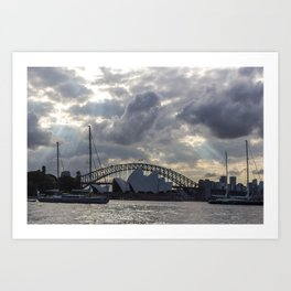 Sydney Opera House on a Cloudy Day Art Print