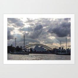 Sydney Opera House on a Cloudy Day Art Print
